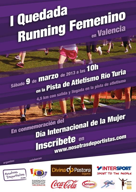 Cartel Quedada Running Femenino  - Nosotras Deporitstas