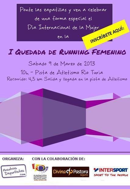 I Quedada de Running Femenino - Día de la Mujer DeportistaS