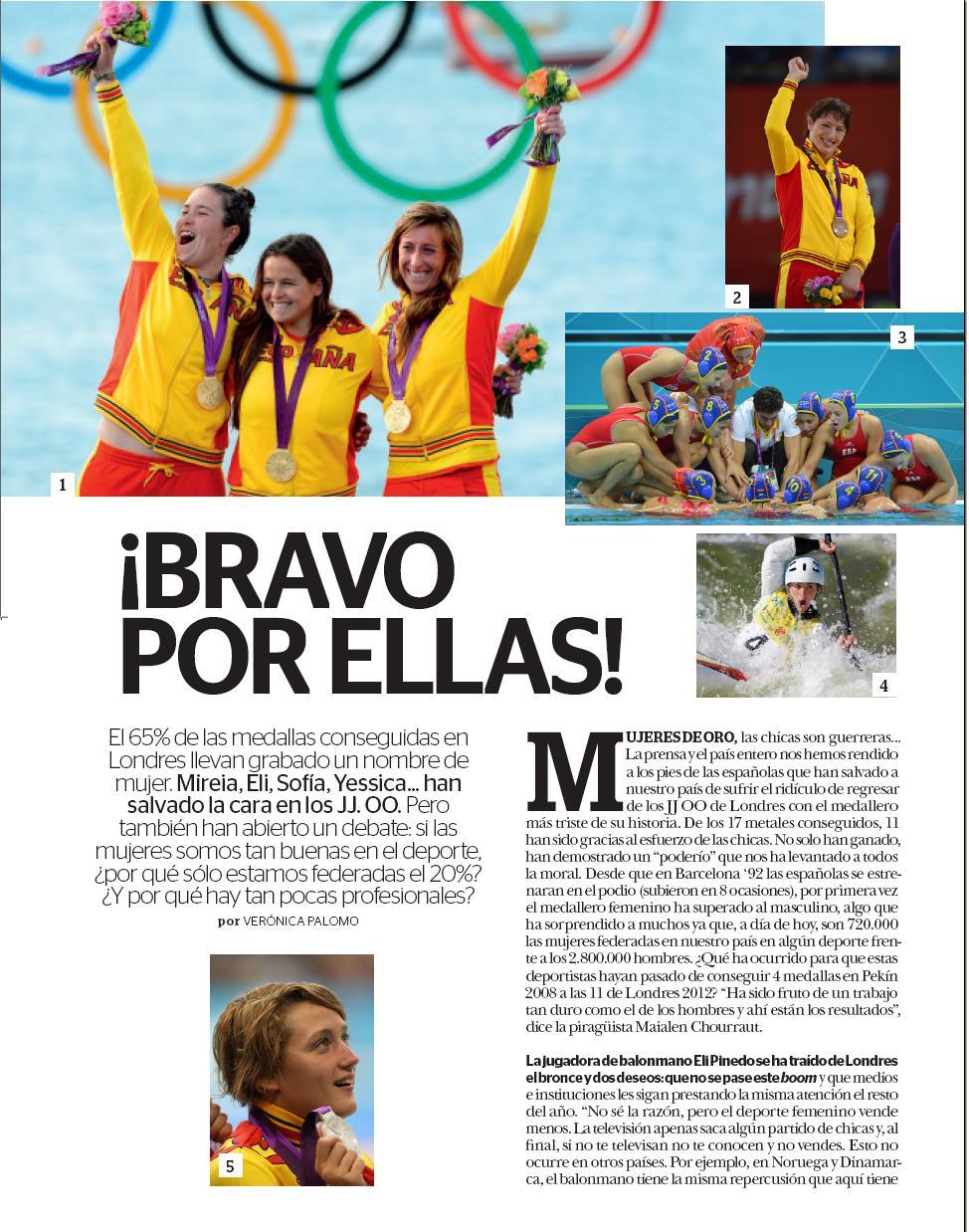Artículo: Hablando de nuestras Olímpicas y de Deporte Femenino en la revista Mía