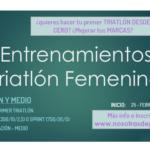 Inicio de los grupos de entrenamientos de Triatlón Femenino – Iniciación y Medio