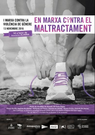 Ven a la I Marxa contra la Violencia de Género en Valencia – 13 de noviembre de 2016