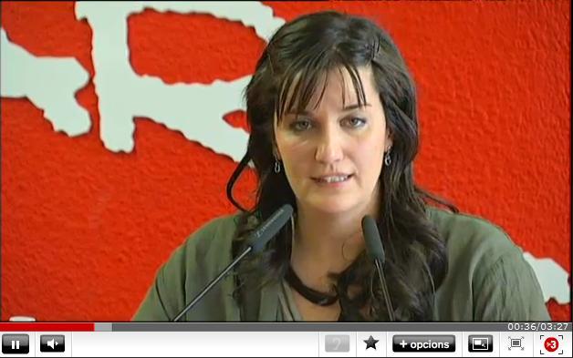 Andrea Fuentes en la rueda de prensa anunciando su retirada - Sincronizada - Nosotras Deportistas