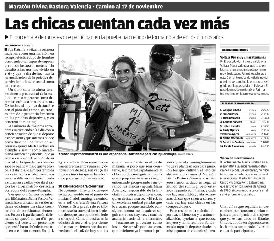 Mujeres maratón Valencia - Nosotras deportistas