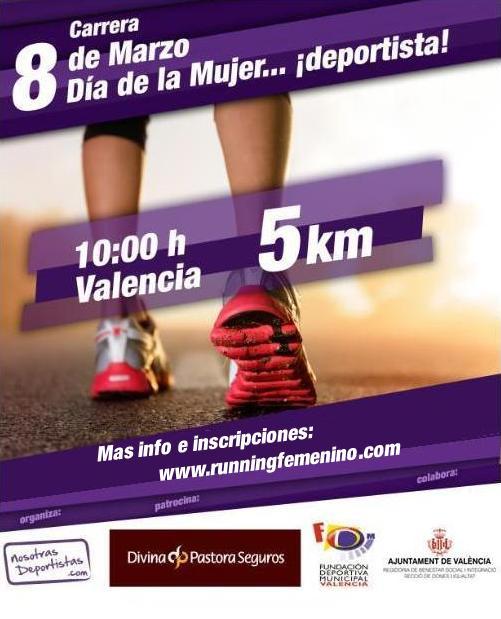 Carrera 8 de Marzo – Día de la Mujer….¡deportista!