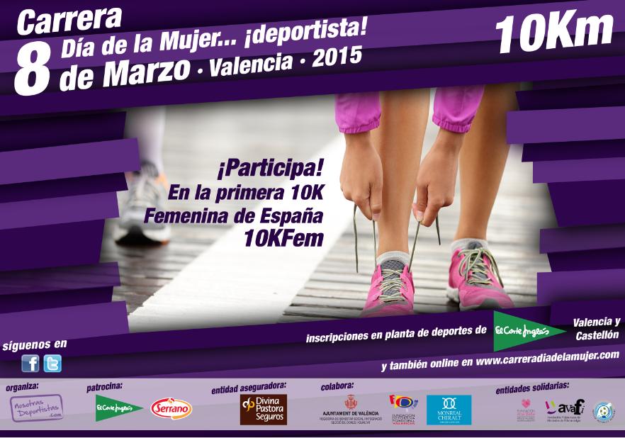 Carrera 10KFem Dia de la Mujer Deportista