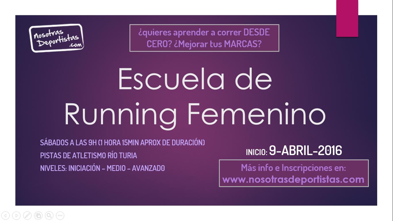 Primavera Runner: Entrena con Nosotras!