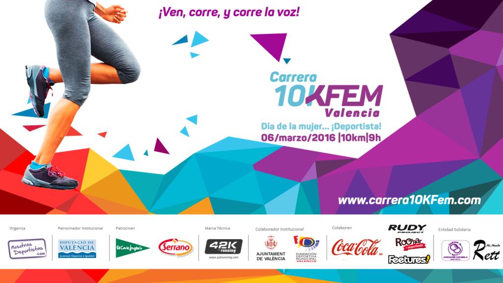 Cartel Carrera 10kfem-hz