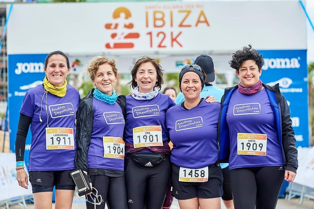 Nosotras en la 12K de Ibiza